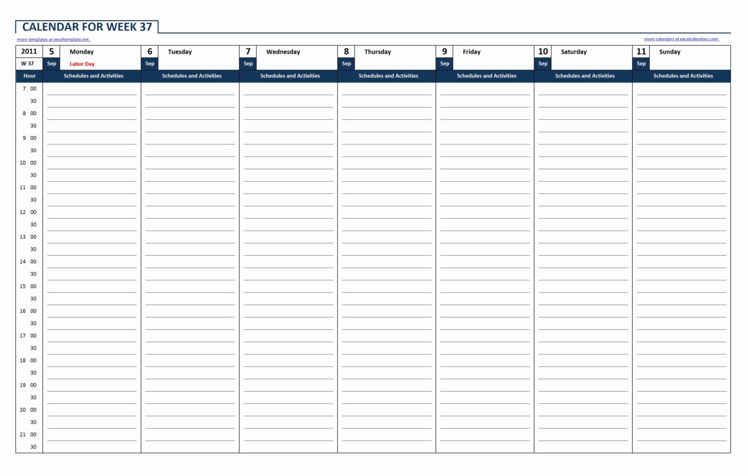 Excel Spreadsheet Calendar Template Weekly Calendar Spreadsheet Intended For Calendar Spreadsheet