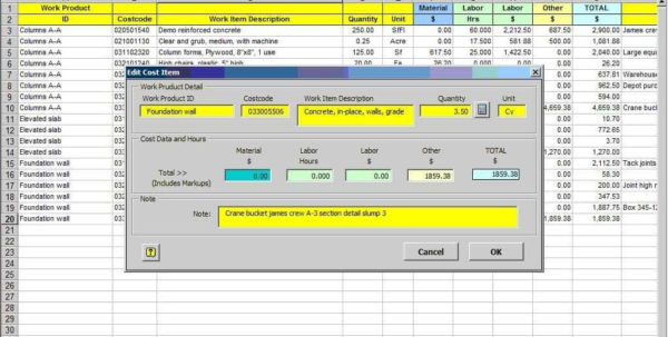 Excel Spreadsheet For Construction Estimating | Sosfuer Spreadsheet In Construction Estimating Excel Spreadsheet Free
