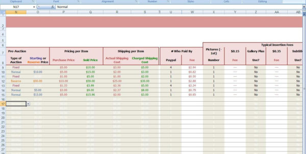 Excel Spreadsheet For Ebay Sales As Free Spreadsheet Monthly Budget Inside Ebay Spreadsheet Template