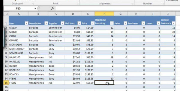 Excel Spreadsheet For Inventory Management | Sosfuer Spreadsheet To Stock Control Excel Spreadsheet Template Free