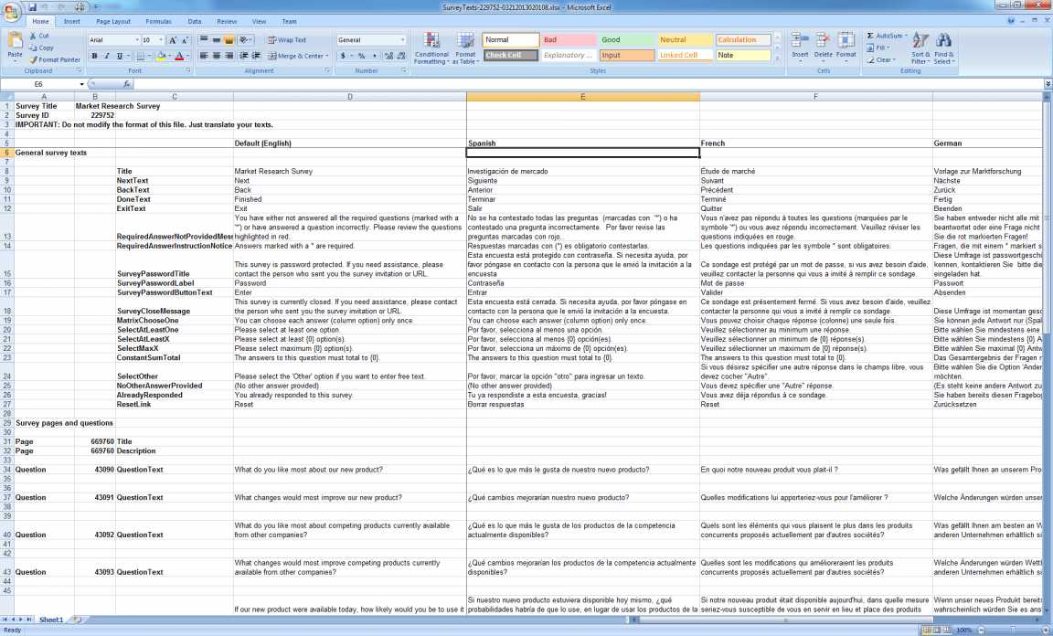 Excel Survey Analysis Template | Worksheet & Spreadsheet To Survey Spreadsheet Template