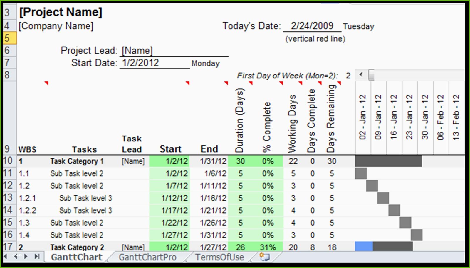 Excel Vorlage Gantt Wunderbare Gantt Chart Excel Template Xls Intended For Gantt Chart Excel Template With Dates