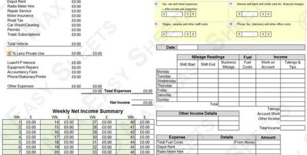 Expense Report Excel Template Free Printable Spreadsheets Business Inside Taxi Bookkeeping Template