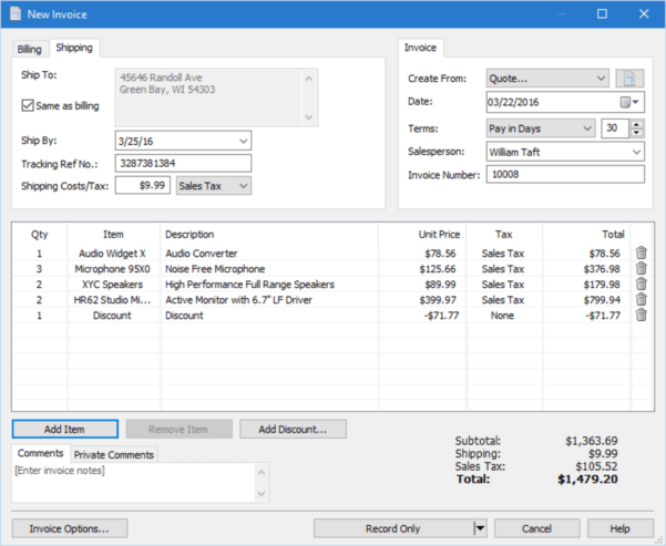 Express Invoice Free Edition   Download To Business Invoice Program