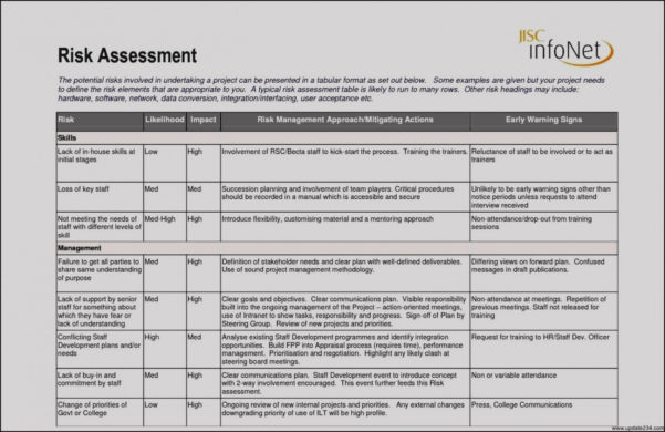 Fall Risk Assessment Form Free Download   Denmar.impulsar.co Inside Project Management Forms Free Download