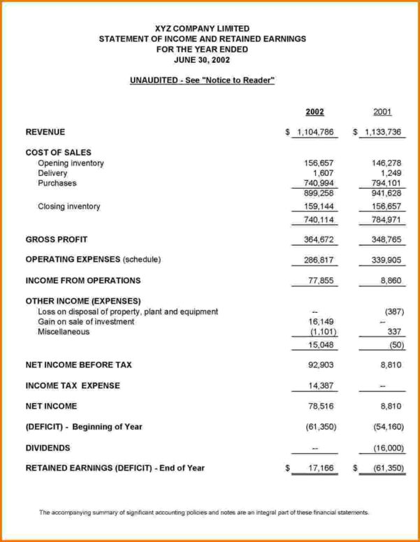 Financial Statements Templates For Financial Statements. Personal In Financial Statements Templates