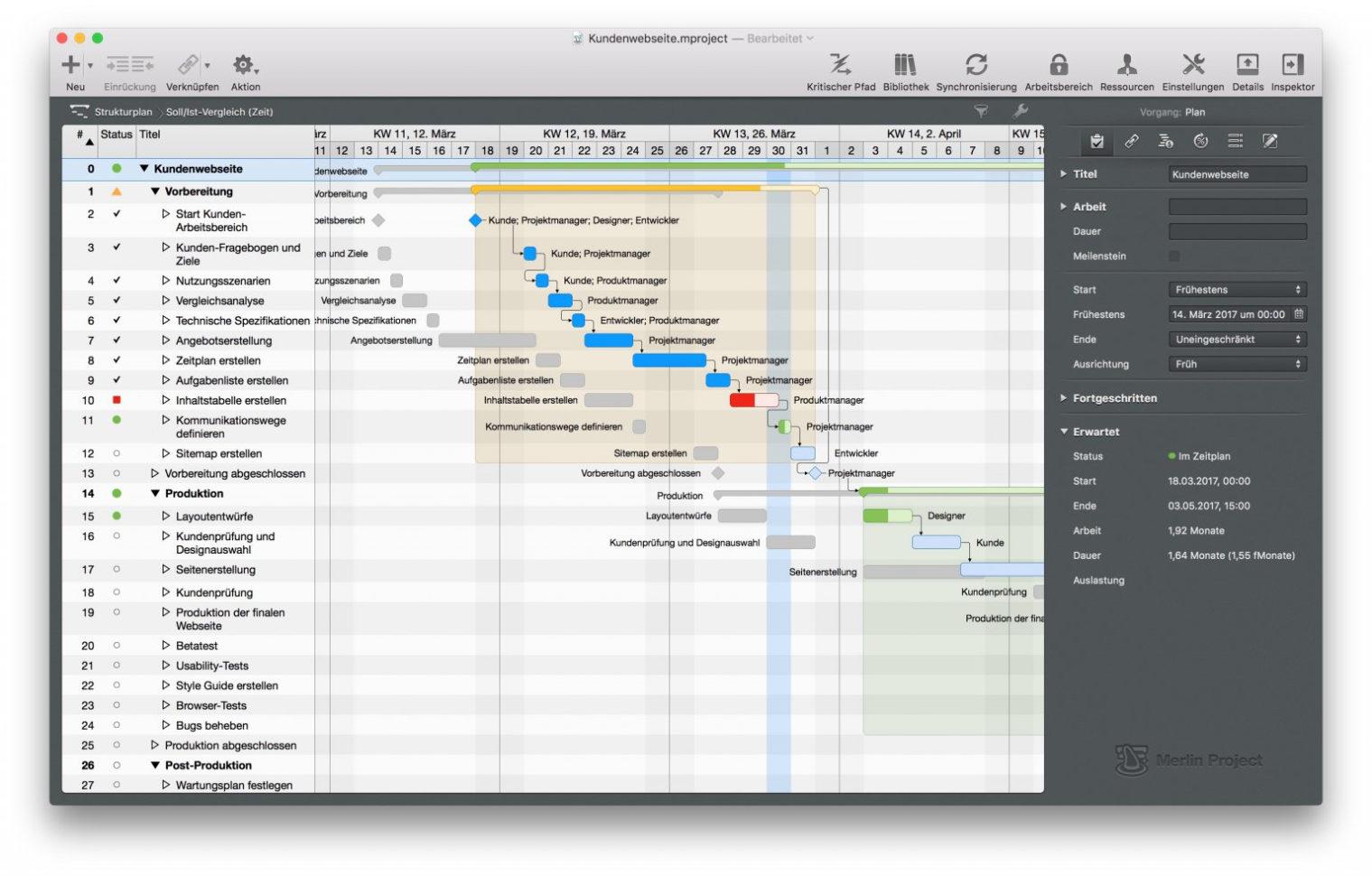 Finden Sie Die Passende Gantt Chart Software Für Ihren Mac With Gantt Chart Template Mac