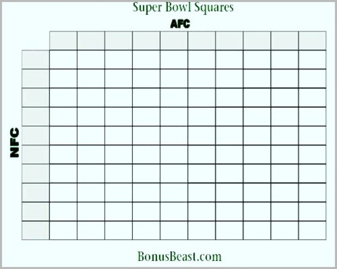 Football Pool Template Excel Lovely Printable Super Bowl Square Grid With Super Bowl Spreadsheet Template