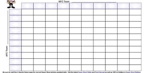 Football Squares Template Excel Elegant Fresh Super Bowl Squares Within Super Bowl Spreadsheet Template