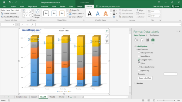 Format Data Labels In Excel  Instructions   Teachucomp, Inc. With Sample Excel Spreadsheet With Data