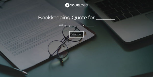 Free Bookkeeping Quote Template   Better Proposals For Bookkeeping Quote Template
