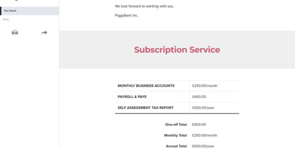 Free Bookkeeping Quote Template   Better Proposals Intended For Bookkeeping Quote Template