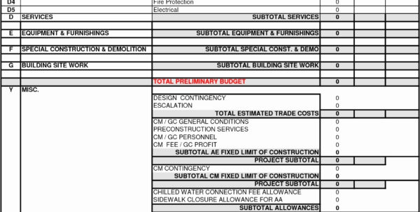 Free Building Estimate Format In Excel Beautiful Free Building With Construction Estimate Format