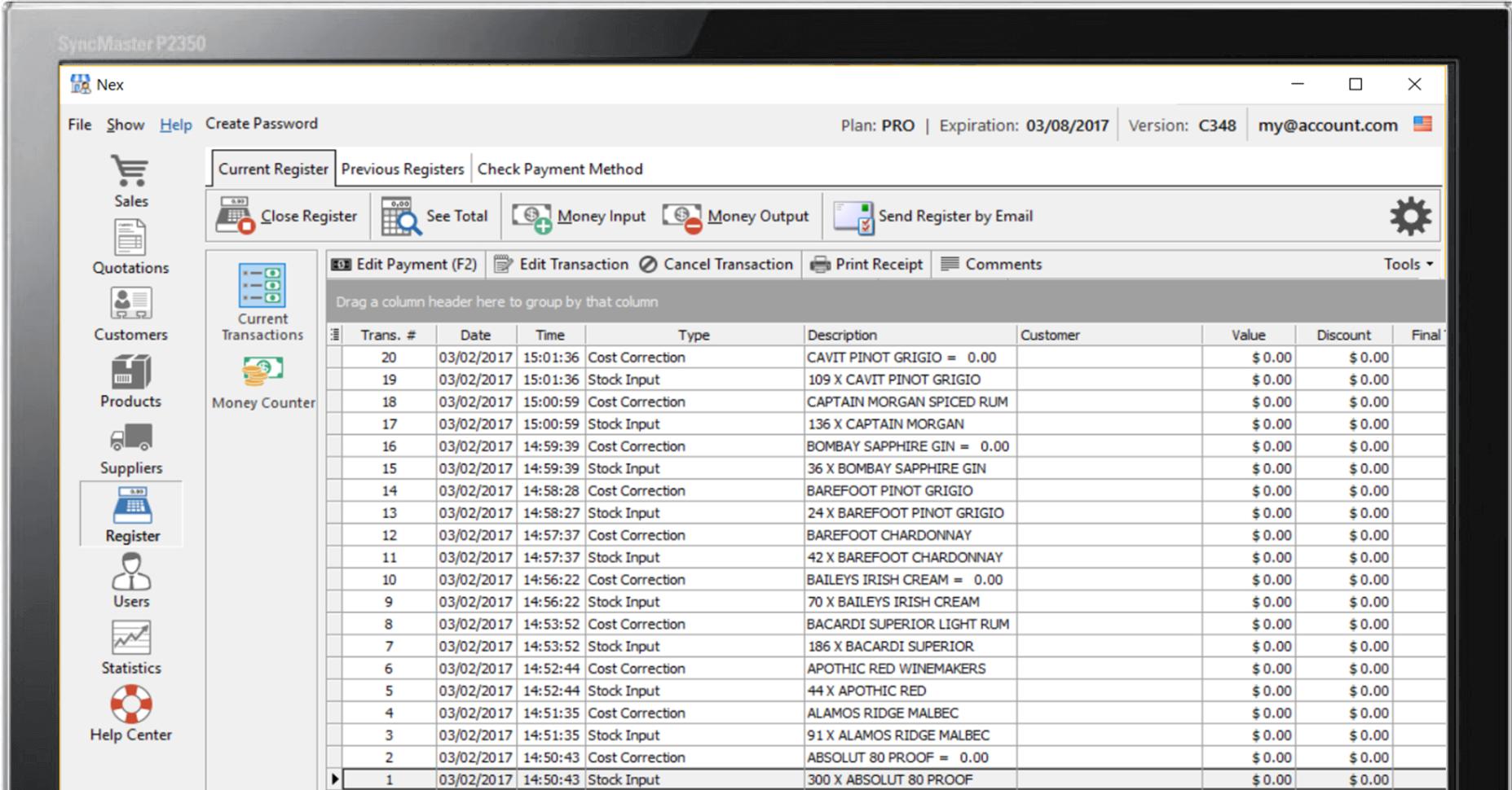 Free Cash Register Software » Nextar Pos For Stock Management Software In Excel Free Download