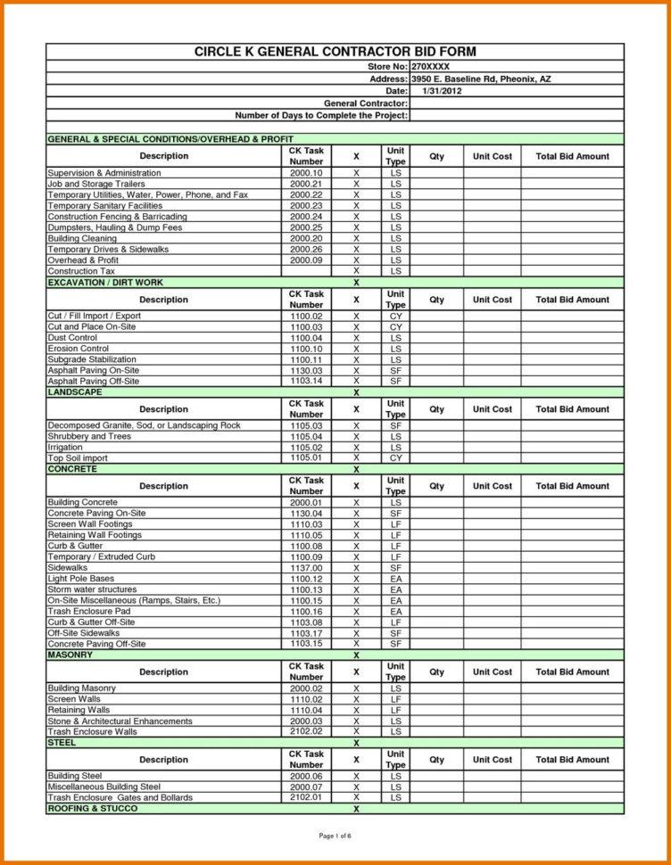 Free Construction Estimate Template Pdf | Resume Examples Within Construction Estimate Form Pdf
