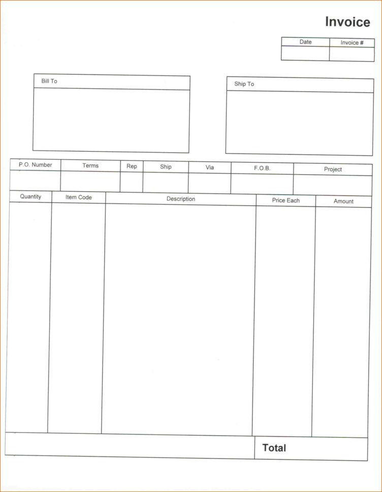 Free Contractor Invoice Template Pdf | Templaterecords In Free Construction Estimate Template Pdf