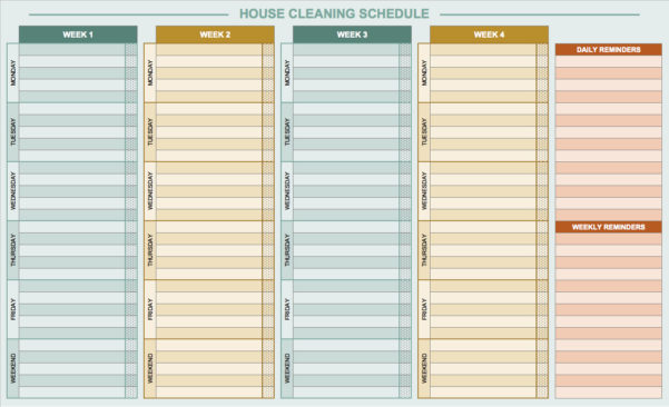 Free Daily Schedule Templates For Excel   Smartsheet Within Employee Schedule Templates Free