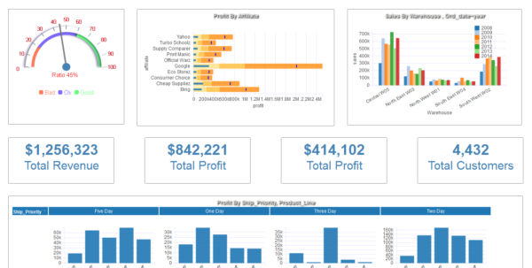 Free Dashboard Software | Business Intelligence Tools For Free Kpi Dashboard Excel