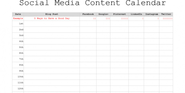 Free Download 3 Free Monthly Content Marketing Calendars Printable To Marketing Calendar Template Free