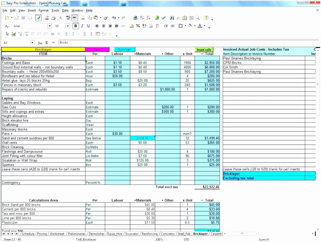 Free Excel Construction Templates Luxury Free Construction Estimate And Construction Estimate Form Excel
