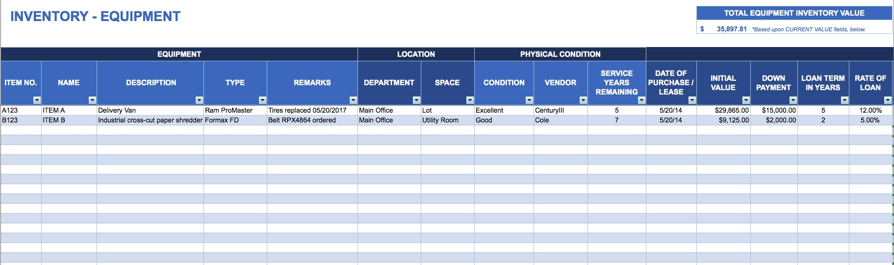 Free Excel Inventory Templates And Inventory Spreadsheet Templates To Inventory Spreadsheet Template For Excel