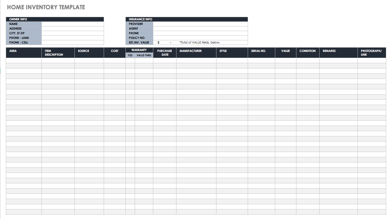 Free Excel Inventory Templates Intended For Inventory Spreadsheet