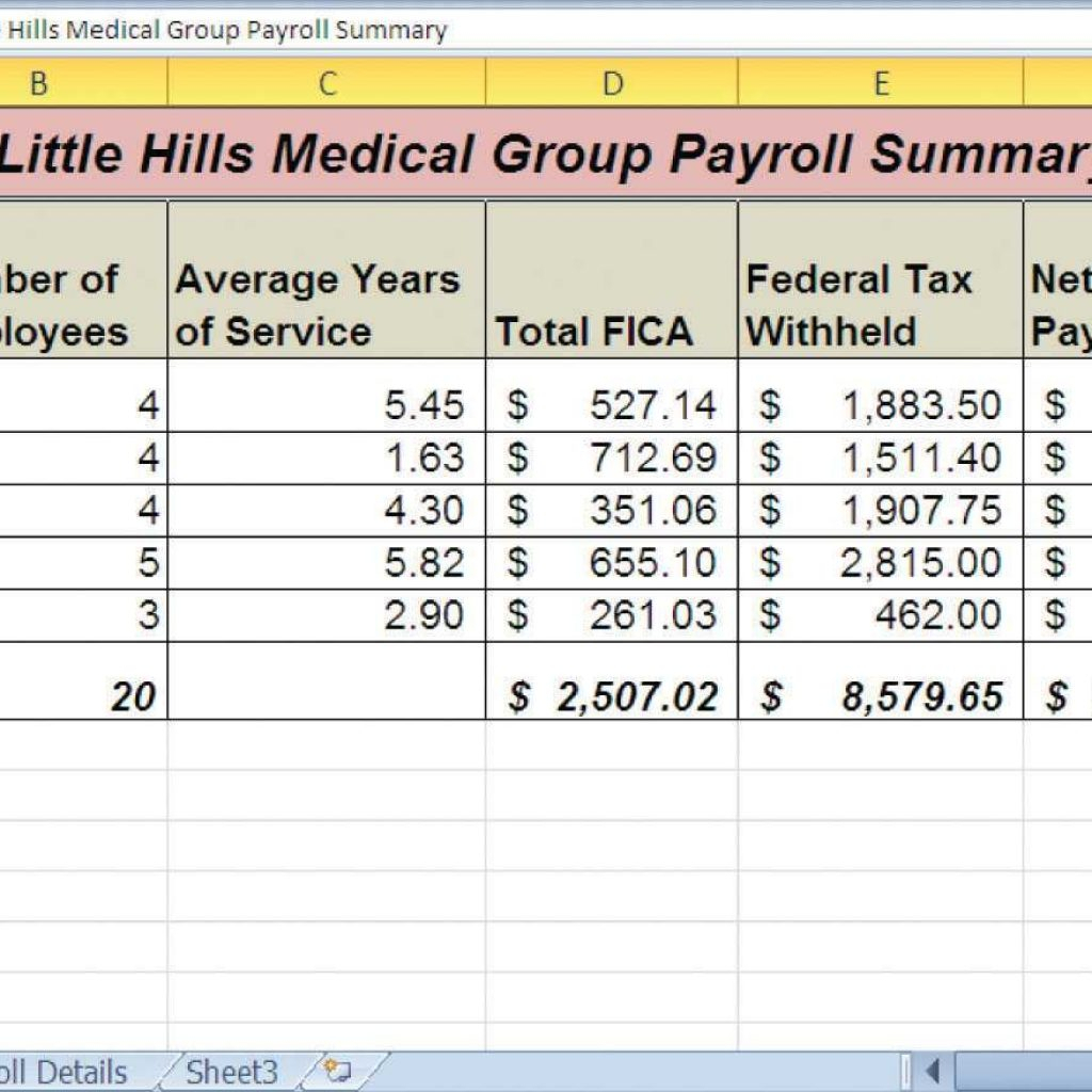Free Excel Payroll Spreadsheet Template Archives   Southbay Robot For Free Payroll Sheet Template