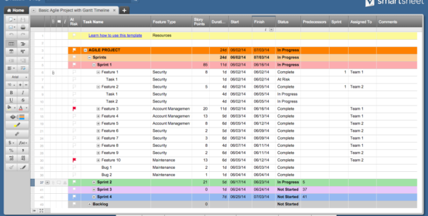 Free Excel Project Management Templates Throughout Project Management Spreadsheet Free