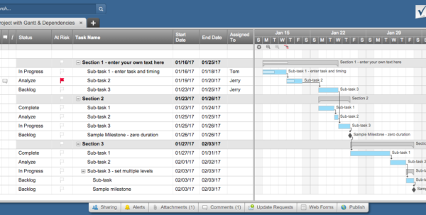 Free Excel Project Management Templates With Gantt Chart Schedule Template