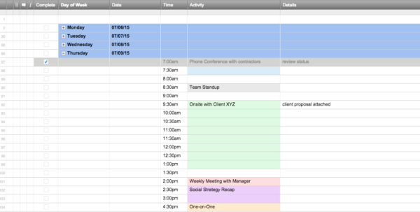 Free Excel Schedule Templates For Schedule Makers For Employee Schedule Templates