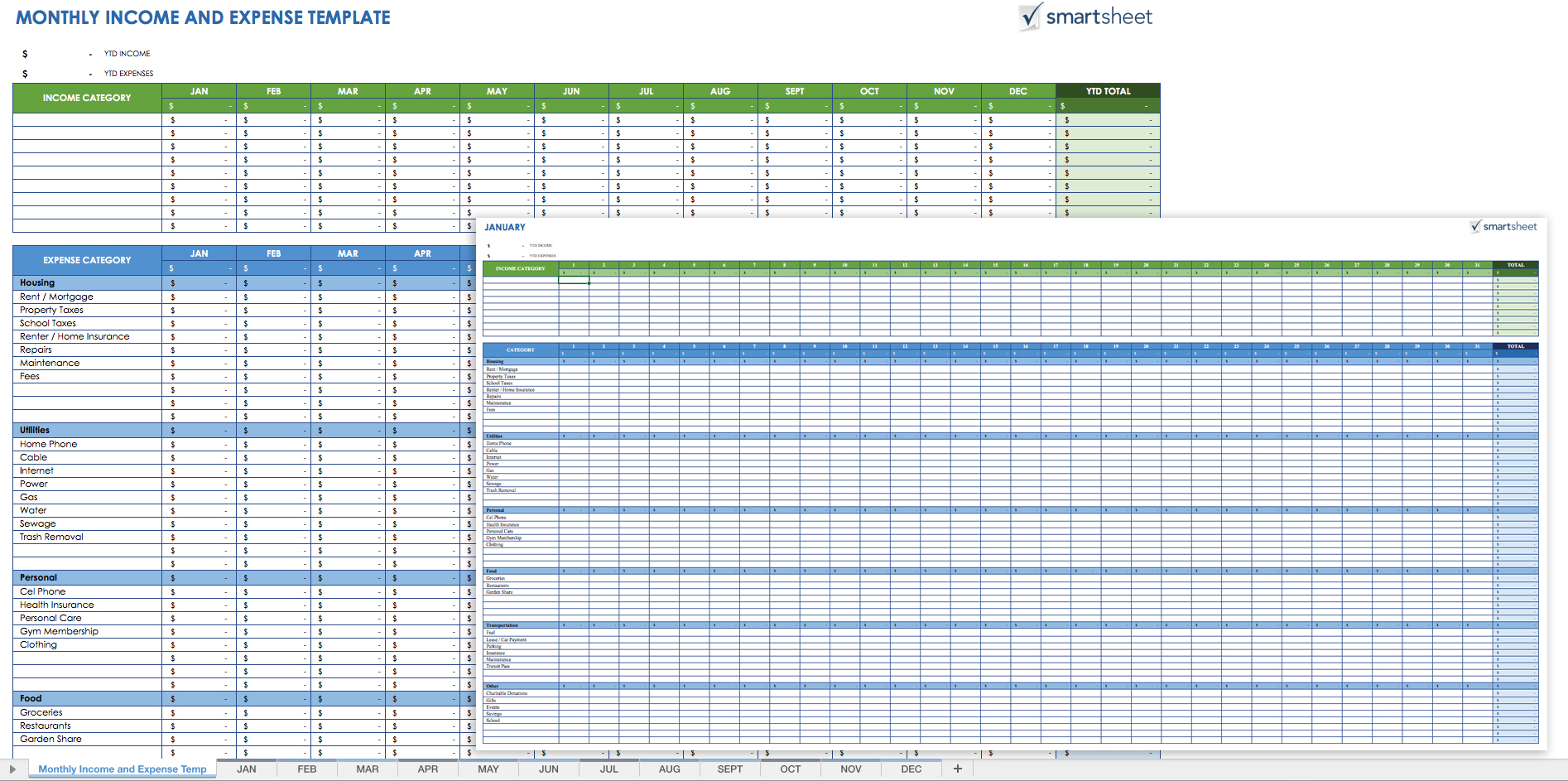 Free Expense Report Templates Smartsheet Intended For Excel Spreadsheet Template For Expenses