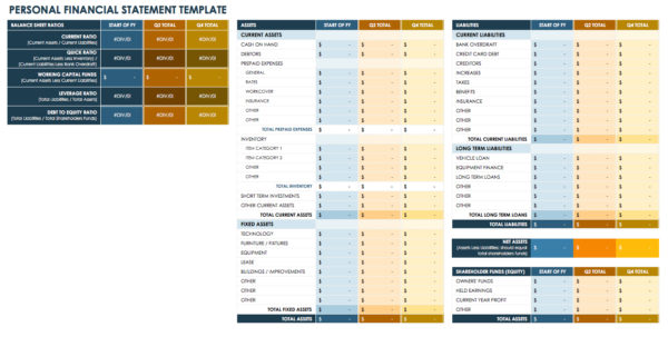 Free Financial Planning Templates | Smartsheet With Personal Financial Budget Template Excel