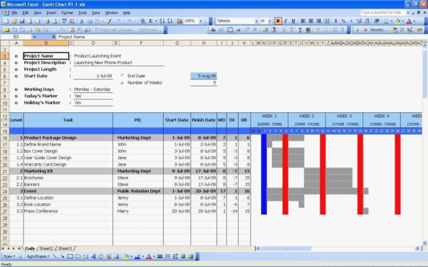 Free Gantt Chart Excel Template Download Now Teamgantt 2010 Throughout Gantt Chart Template Excel 2010