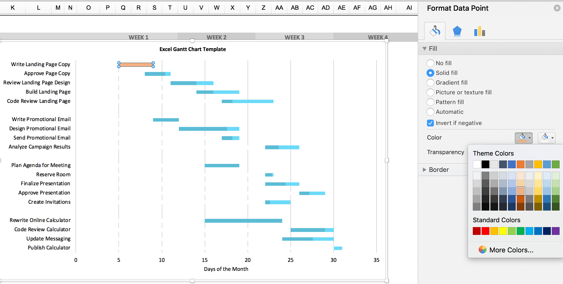 Free Gantt Chart Excel Template: Download Now | Teamgantt Intended For Gantt Chart Templates Excel