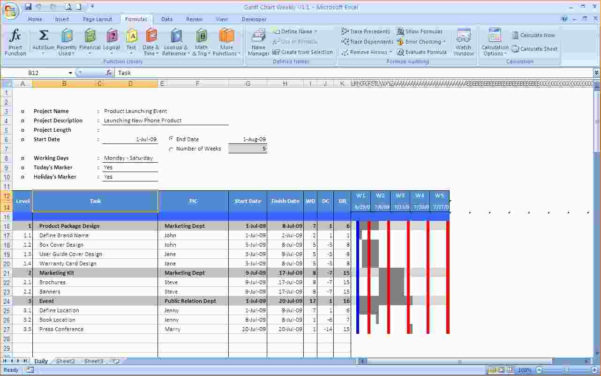 Free Gantt Chart Template For Mac | Wilkinsonplace With Free Gantt Chart Template For Mac Excel