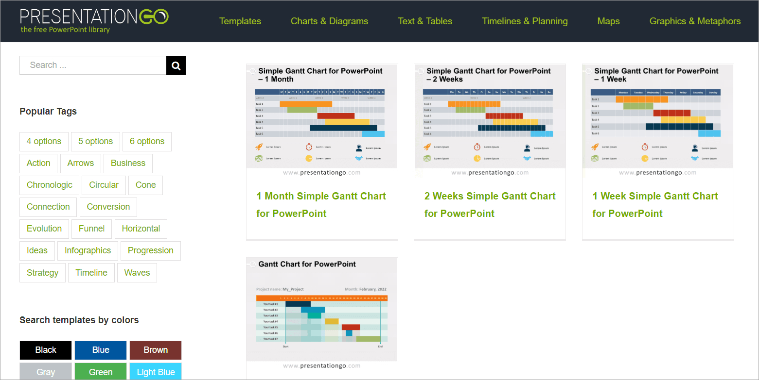 free gantt chart templates for powerpoint presentations