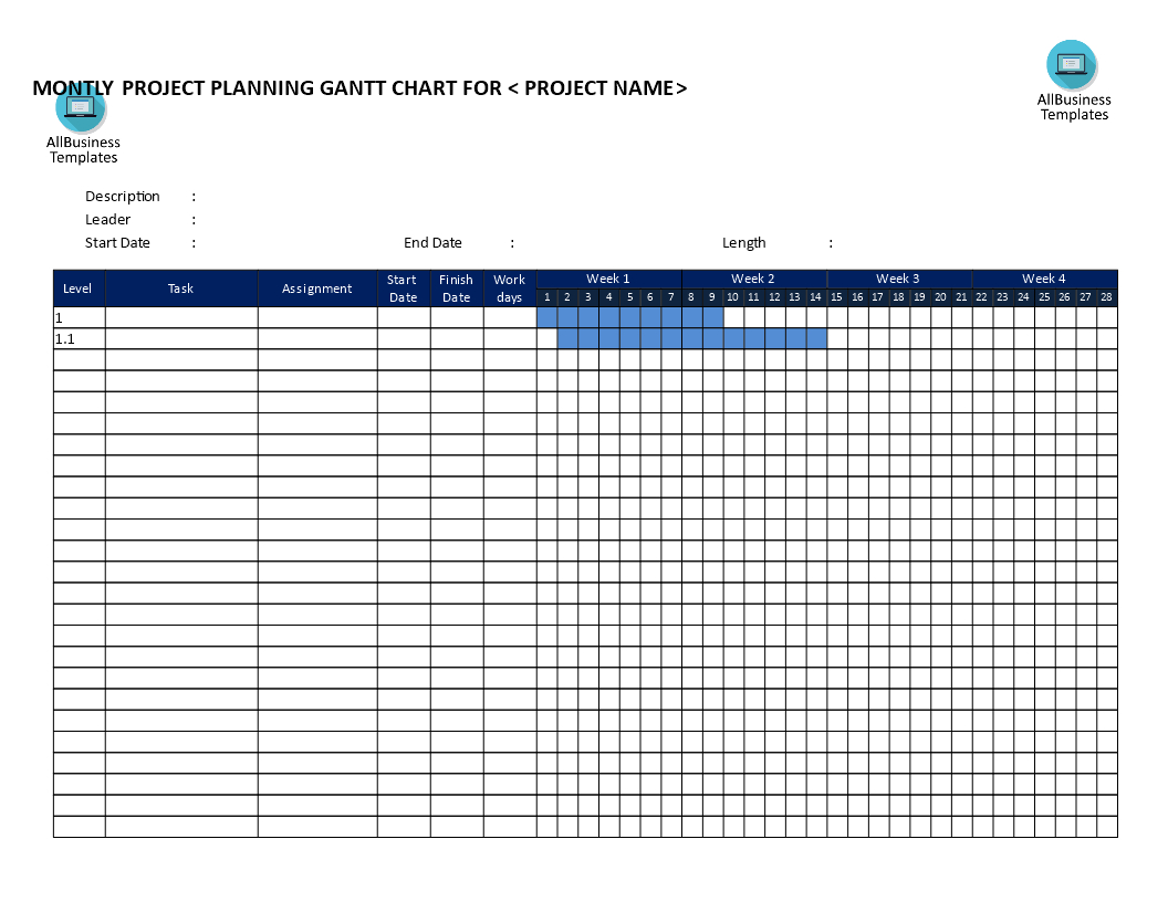 Free Gantt Chart Weekly Based Template | Templates At To Weekly Gantt Chart Template Free