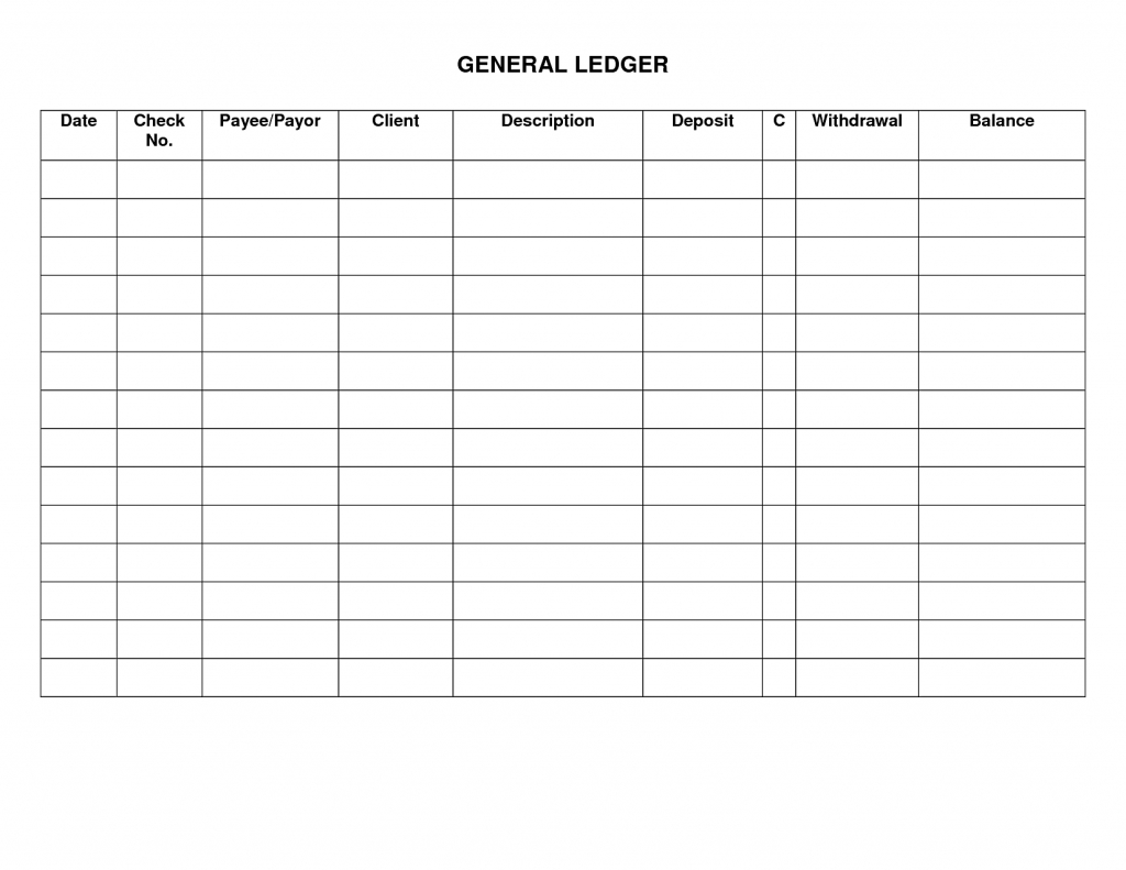Free General Ledger Cash Receipts Journal Free   Clgss With Free General Ledger Template
