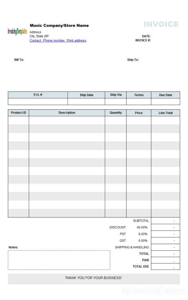 Free Invoice Template Microsoft Works To Taxi Bookkeeping Template