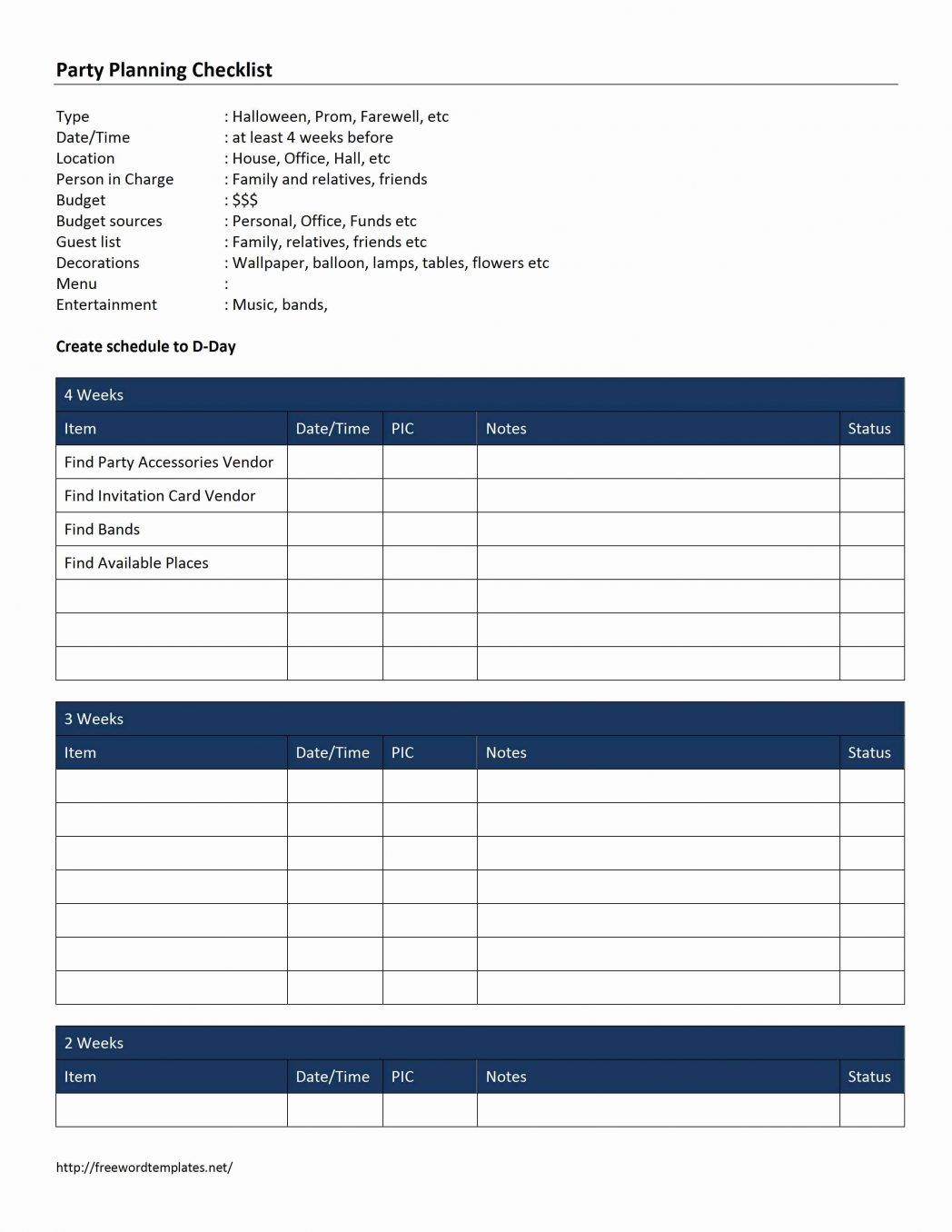 Free Ms Word Project Management Templates Excel 2007 With Checklist Throughout Project Management Templates In Word