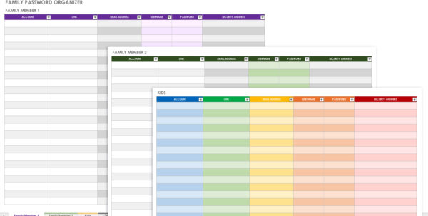 Free Password Templates And Spreadsheets   Smartsheet With Free Printable Password Keeper