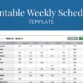 Free Printable Weekly Work Schedule Template For Employee Scheduling Within Employee Weekly Schedule Template Free