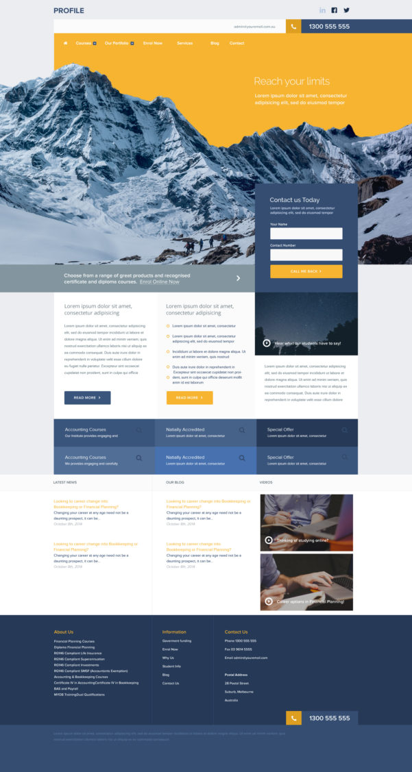 Free Profile Portfolio Website Template Photoshop Psd | Psd Depot And Bookkeeping Website Templates
