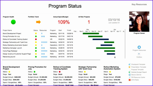 Free Project Dashboard Template Project Management Dashboard Within Project Management Presentation Templates