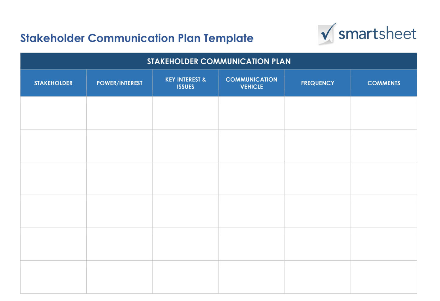 Free Stakeholder Analysis Templates Smartsheet Intended For Project Management Templates In Word