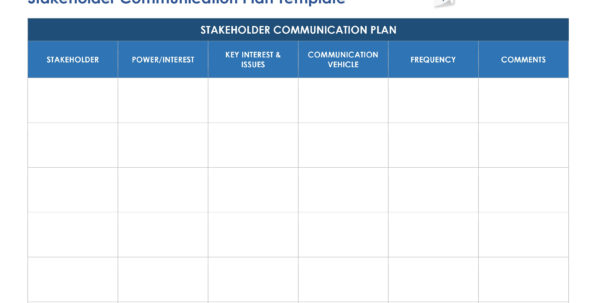 Free Stakeholder Analysis Templates Smartsheet Intended For Project Management Templates Word