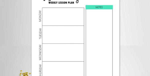 Free Teacher Binder Printables: Over 25 Pretty Planning Templates! Within Teacher Printable Templates Teacher Printable Templates Excel Spreadsheet Templates