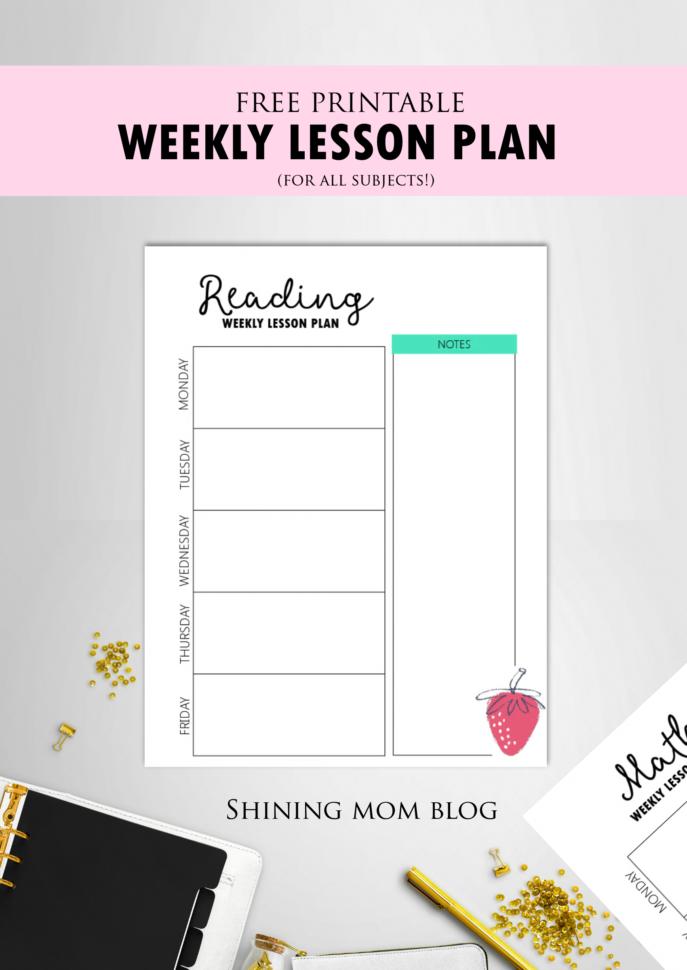 Free Teacher Binder Printables: Over 25 Pretty Planning Templates! Within Teacher Printable Templates