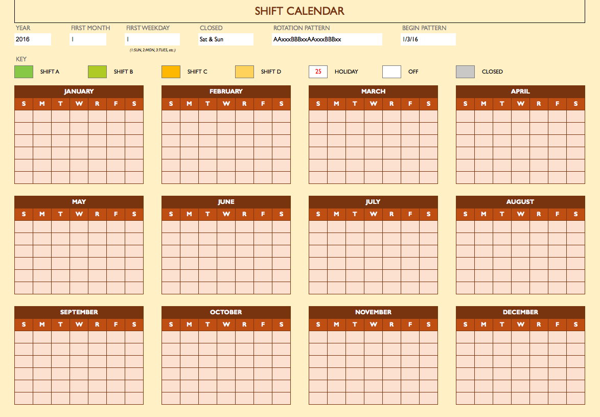 Free Work Schedule Templates For Word And Excel To Monthly Employee Work Schedule Template Excel