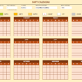 Free Work Schedule Templates For Word And Excel With Employee Shift Schedule Template Excel